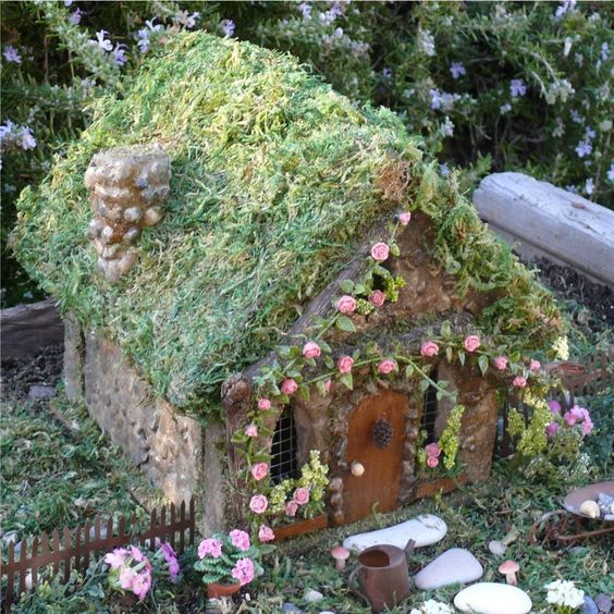amazing 55 diy fairy house ideas crafts and diy ideas. Black Bedroom Furniture Sets. Home Design Ideas