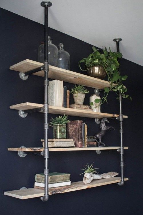 Amazing 30 Diy Industrial Pipe Shelves Crafts And Diy Ideas