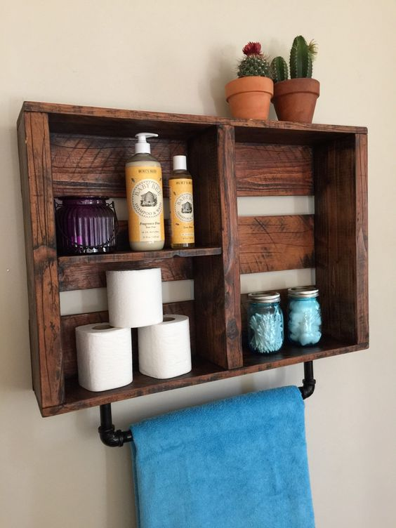 Decorative Rustic Storage Projects For Your Bathroom: 35 Brilliant Rustic DIY Storage Ideas For Instant Home Style